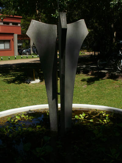 Reinforced concrete sculpture and Stainless Steel